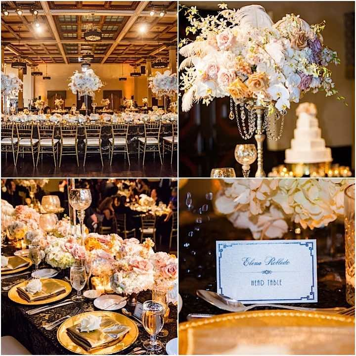 Glamorous Gold And Black San Diego Wedding Modwedding