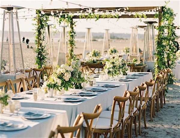 Beachfront San Diego Wedding with Garden Vibes