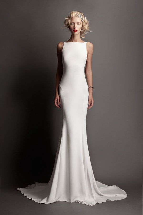 the most flattering sheath wedding dresses modwedding