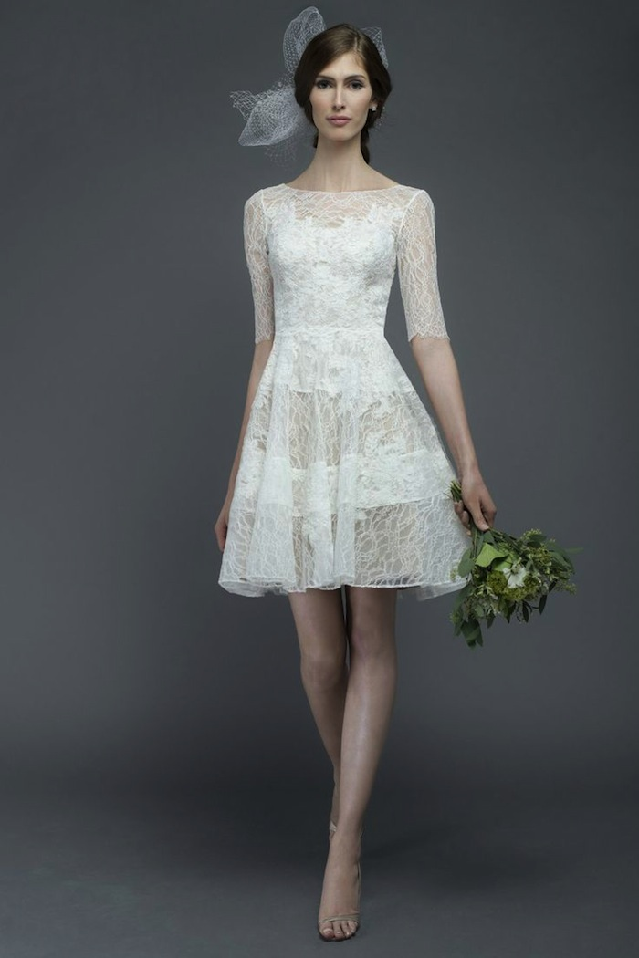 Short wedding dresses with luxury details modwedding for Simple elegant short wedding dresses