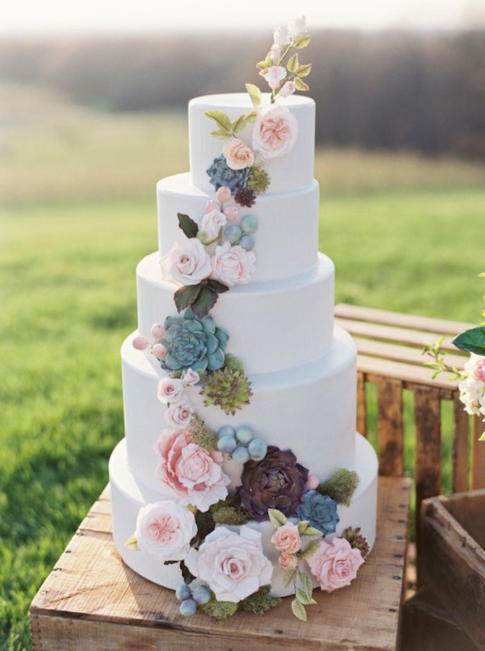 Simple wedding cakes made to inspire modwedding simple wedding cakes 9 08222015 km junglespirit Gallery
