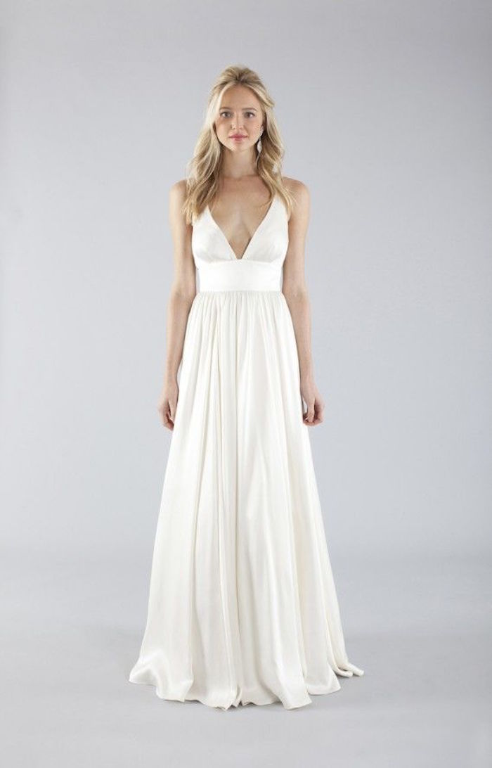 Simple wedding dresses with elegance modwedding for Simple wedding dresses under 200