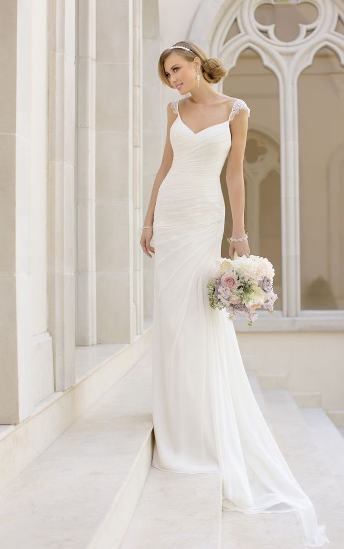 Simple wedding dresses with elegance modwedding for Simple elegant short wedding dresses