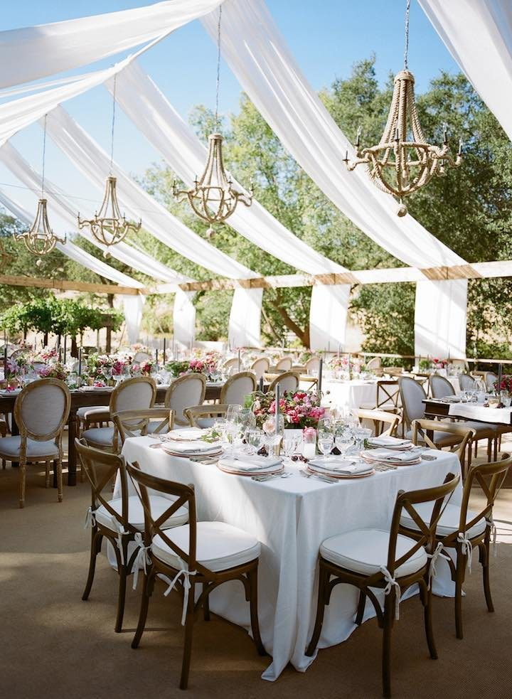 sonoma romantic decor garden brunch reception pink outdoor tent event modwedding vibes decorations berry events county orange party table weddings
