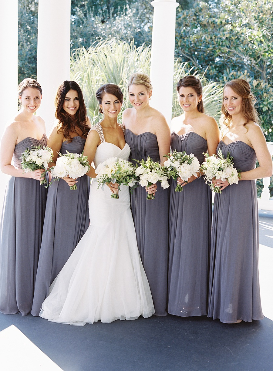 Beautifully Tented South Carolina Wedding In Slate Grey