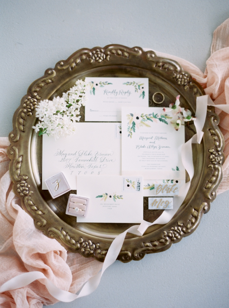 Romantic Blush Southern Wedding at The Farmhouse from Nicole Berrett Photography