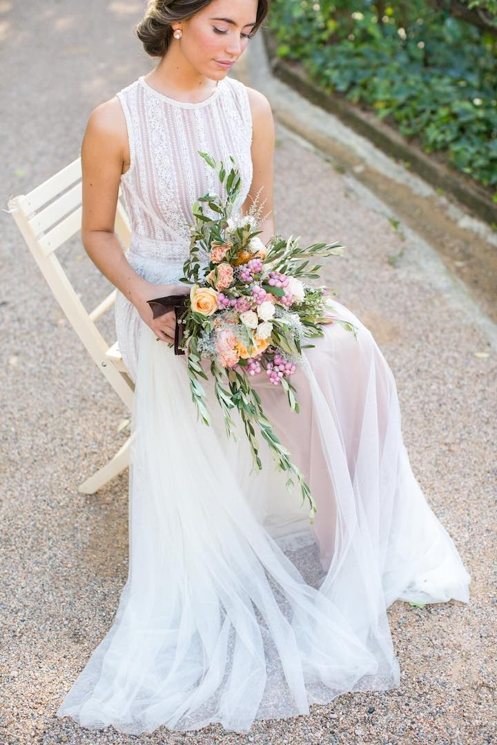 Spanish Wedding: Rustic Mediterranean Blush Inspiration - MODwedding