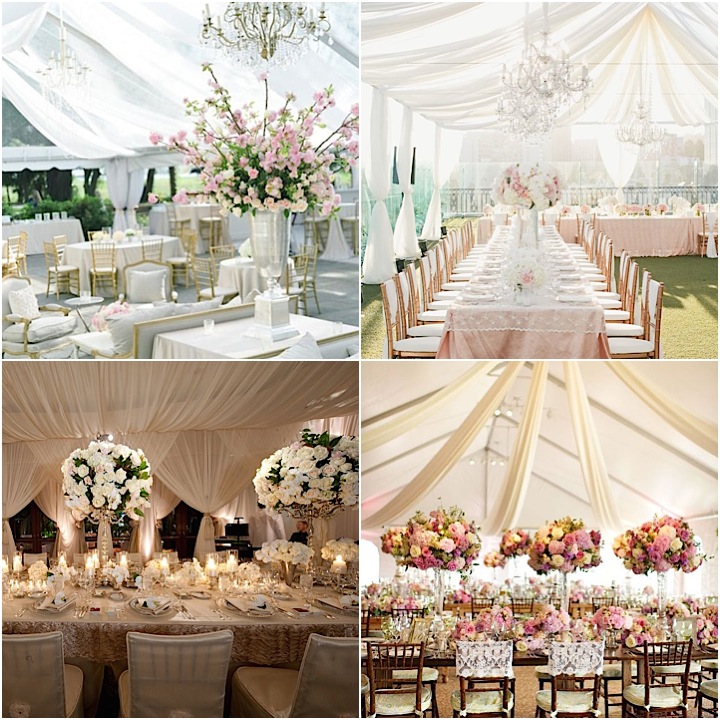 Italian Canvas Tent Veranda Decorated In Different Styles: Tented-wedding-ideas-09142015-ky-collage