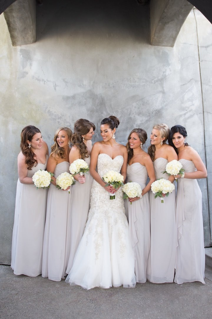 Blush Wedding Dress Grey Bridesmaids : A vancouver wedding with wintery mix modwedding