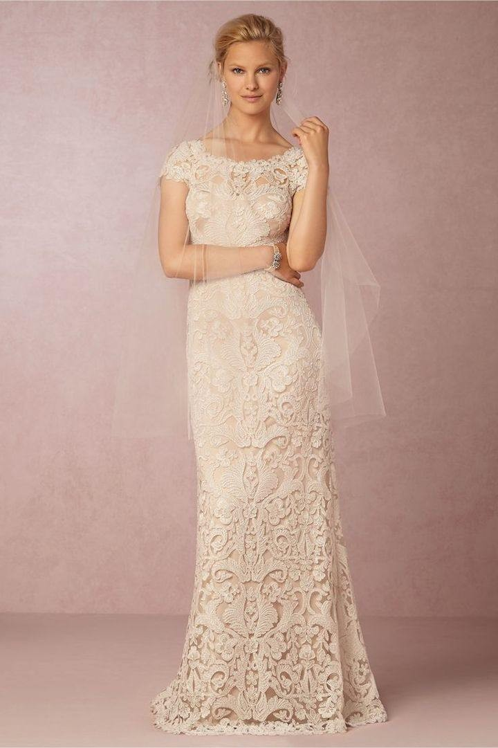 Modern Vintage Lace Wedding Dress : Vintage lace wedding dresses from bhldn modwedding