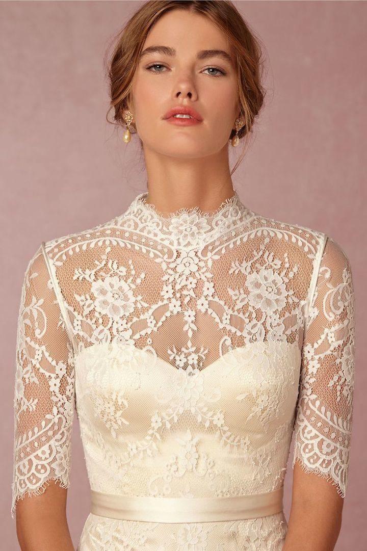 Vintage lace wedding dresses from bhldn modwedding for Vintage lace wedding dress pinterest