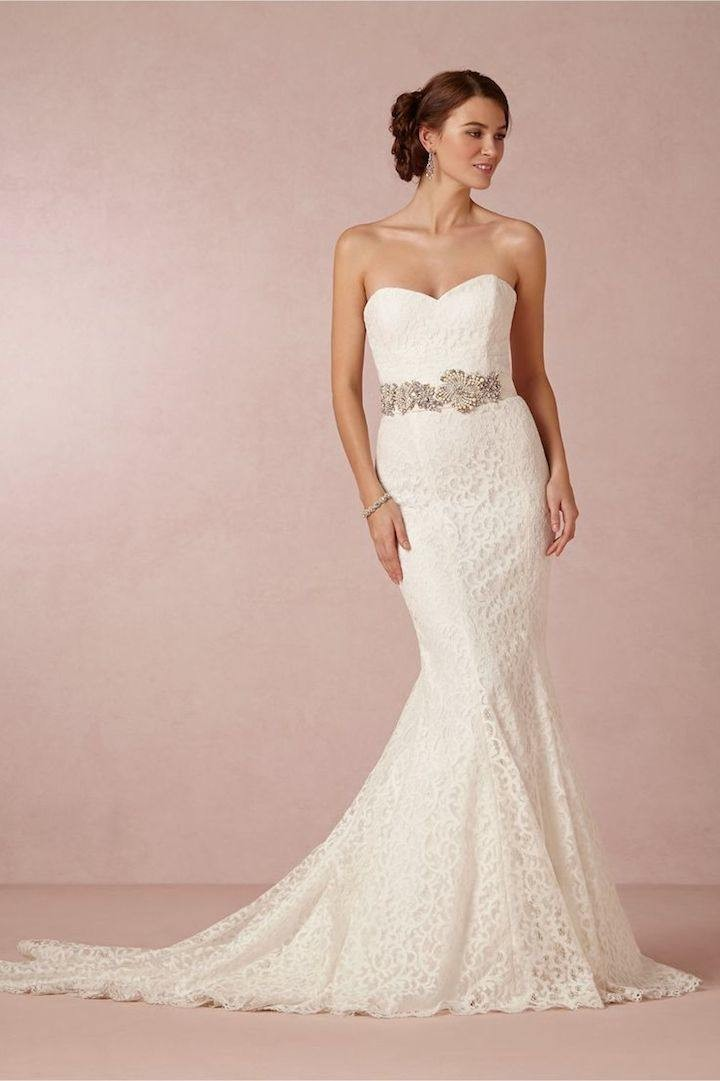 Lace Wedding Dress With Belt
