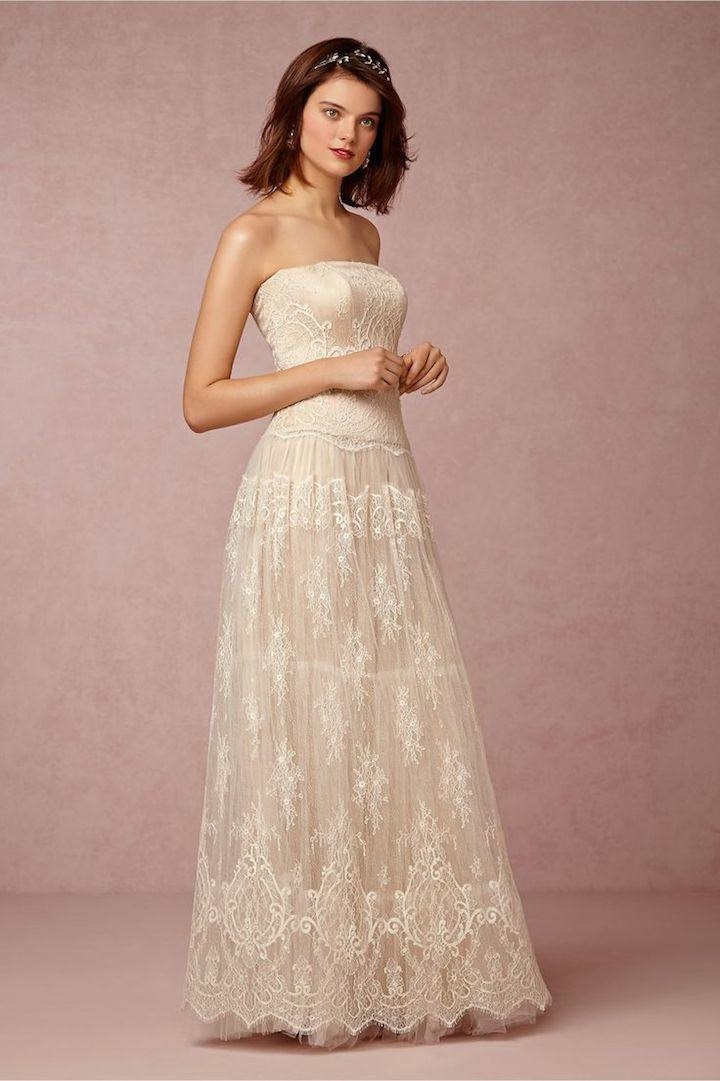Vintage lace wedding dresses from bhldn modwedding for Www vintage wedding dresses