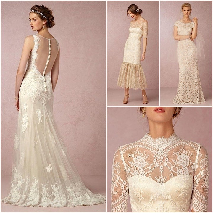 Vintage Lace Wedding Dresses Collage 082017mc
