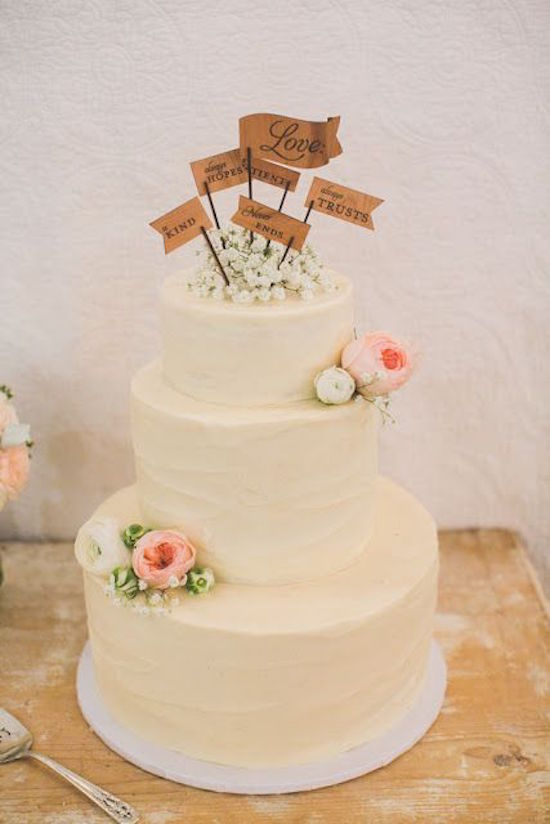 Wedding Cake Toppers Ideas Pictures : Elegant Wedding Cake Toppers With Script - MODwedding