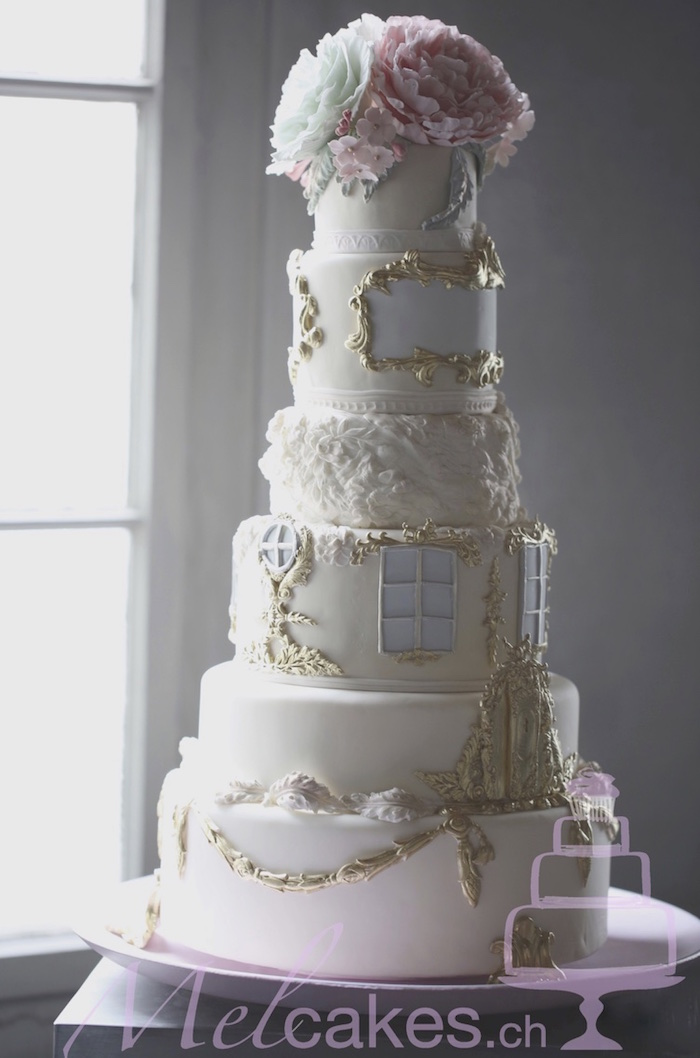 fancy wedding cake wedding cakes with details by melcakes modwedding 14192