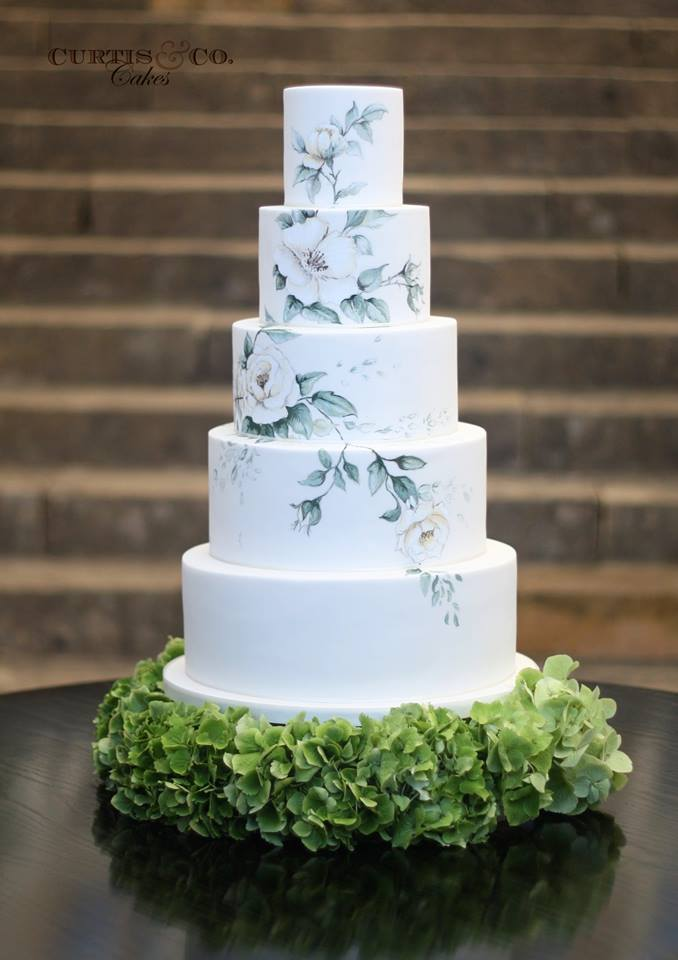 beautiful wedding cakes from curtis co modwedding. Black Bedroom Furniture Sets. Home Design Ideas