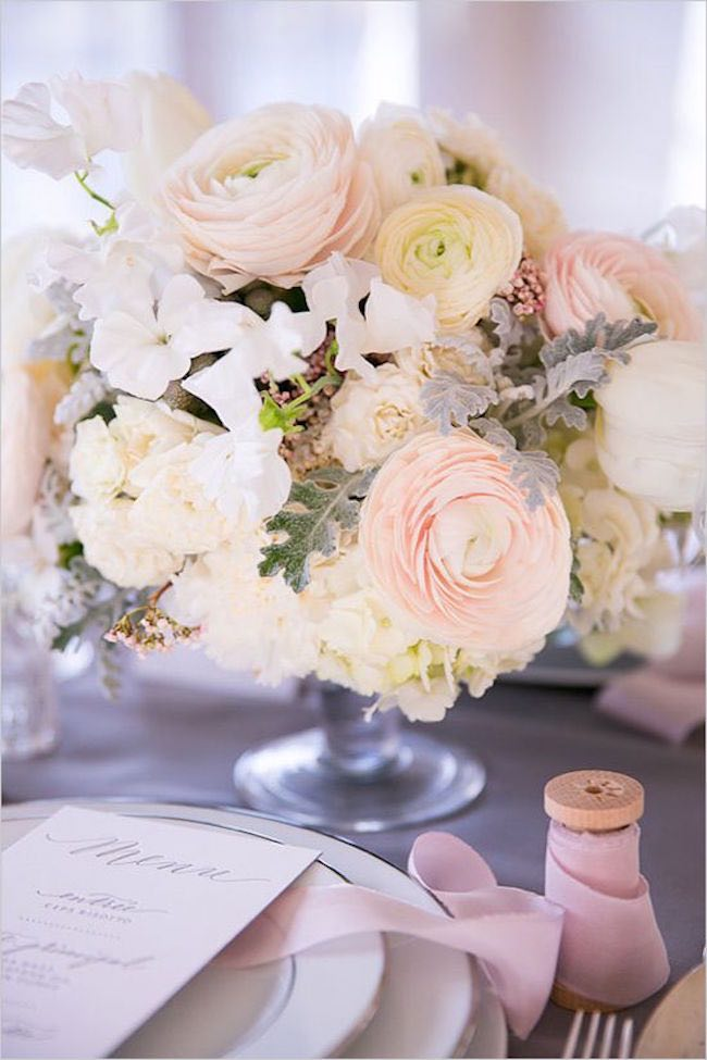 Romantic wedding centerpieces with ranunculus modwedding wedding centerpiece 2 092215ch junglespirit Images