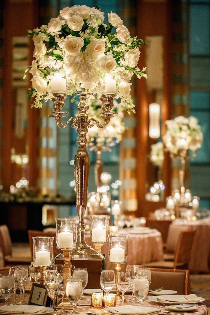 Romantic Wedding Centerpieces With Glamour Modwedding