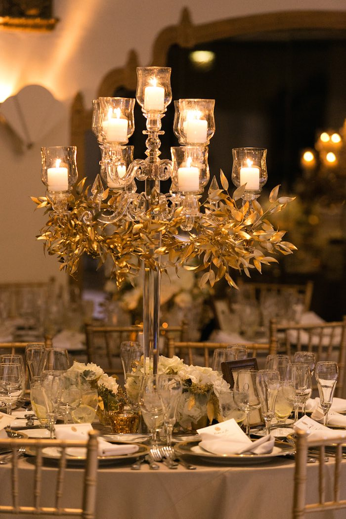 white and gold wedding table decorations glamorous wedding centerpieces modwedding 1298