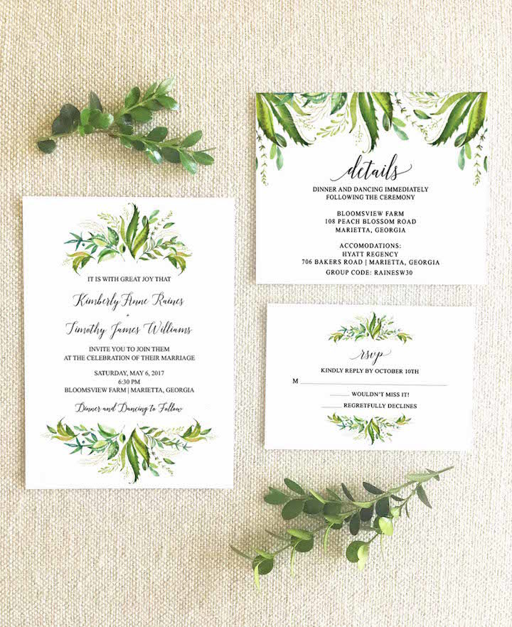 Eucalyptus Rehearsal Dinner Invitation Wedding Day Essentials 4 040817mc