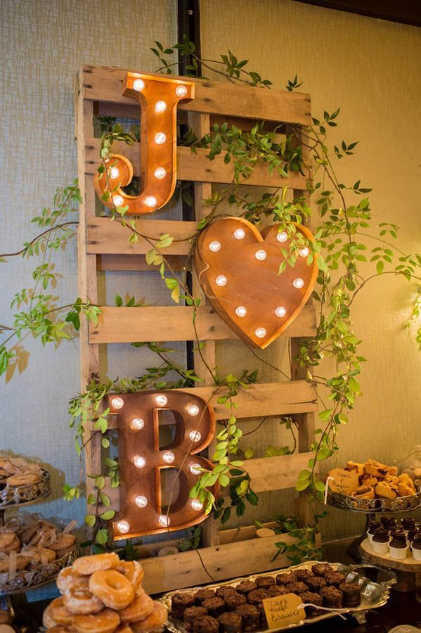 DIY wedding decorations dessert table