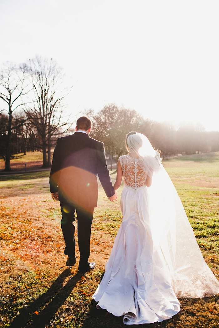 Winter wedding with diy details modwedding for Wedding dresses anderson sc