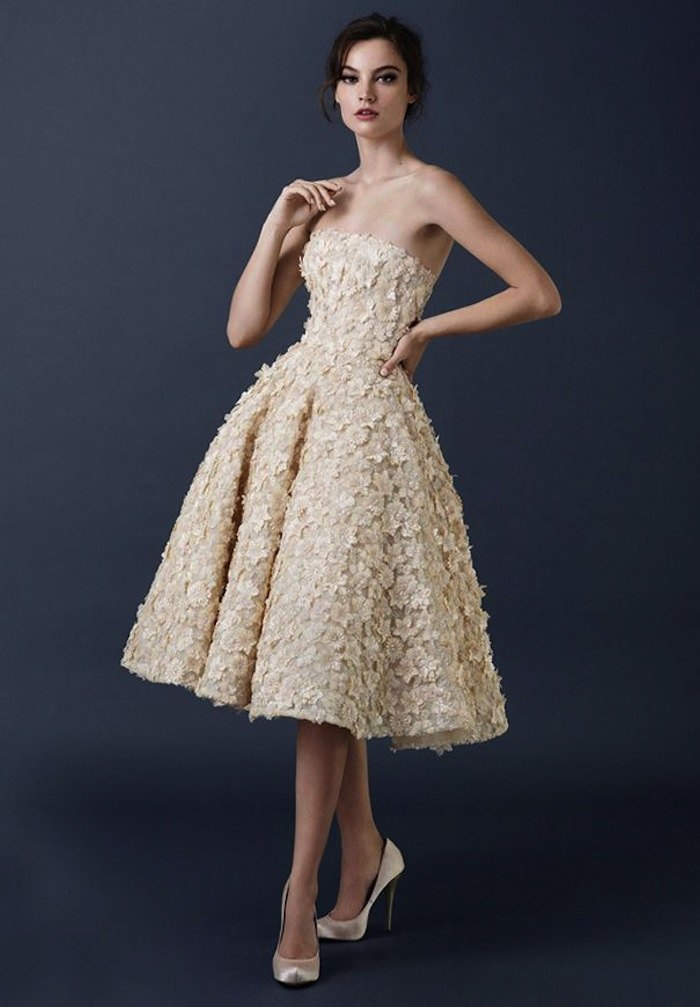 Tea Length Wedding Dresses For Classic Style Modwedding