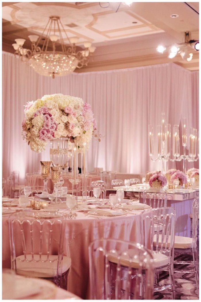 Extravagant wedding floral centerpieces modwedding for Decoration rose gold