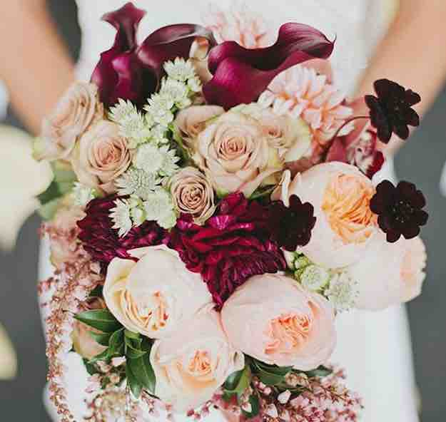 a complete list of wedding flowers you may need for your wedding