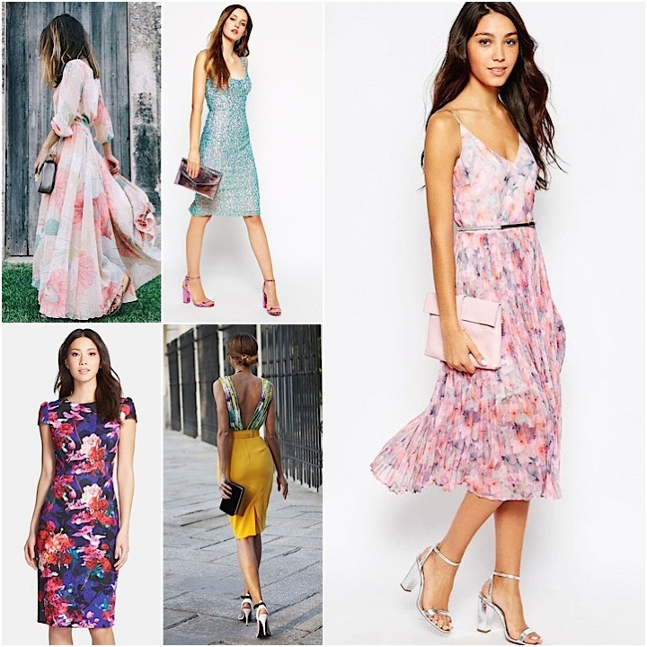 Wedding Guest Dresses Feature Collage