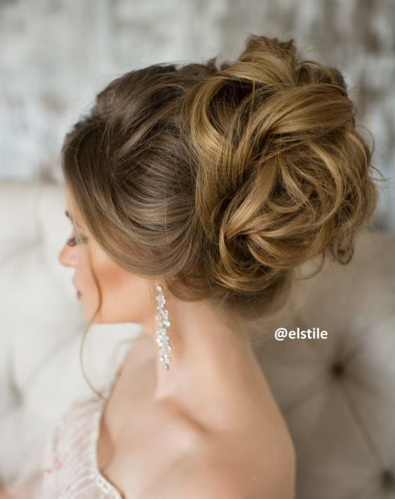 Loose Wavy Updo Wedding Hairstyle Modwedding