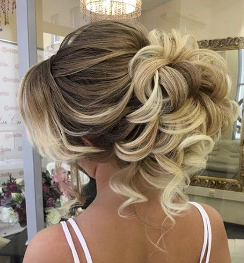 Curly Wedding Hairstyle: Curly Updo Wedding Hairstyle