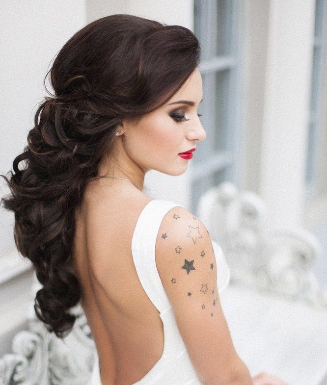 Beautiful Bridal Hairstyle For Long Hair: Wedding Hairstyles With Chic Updos