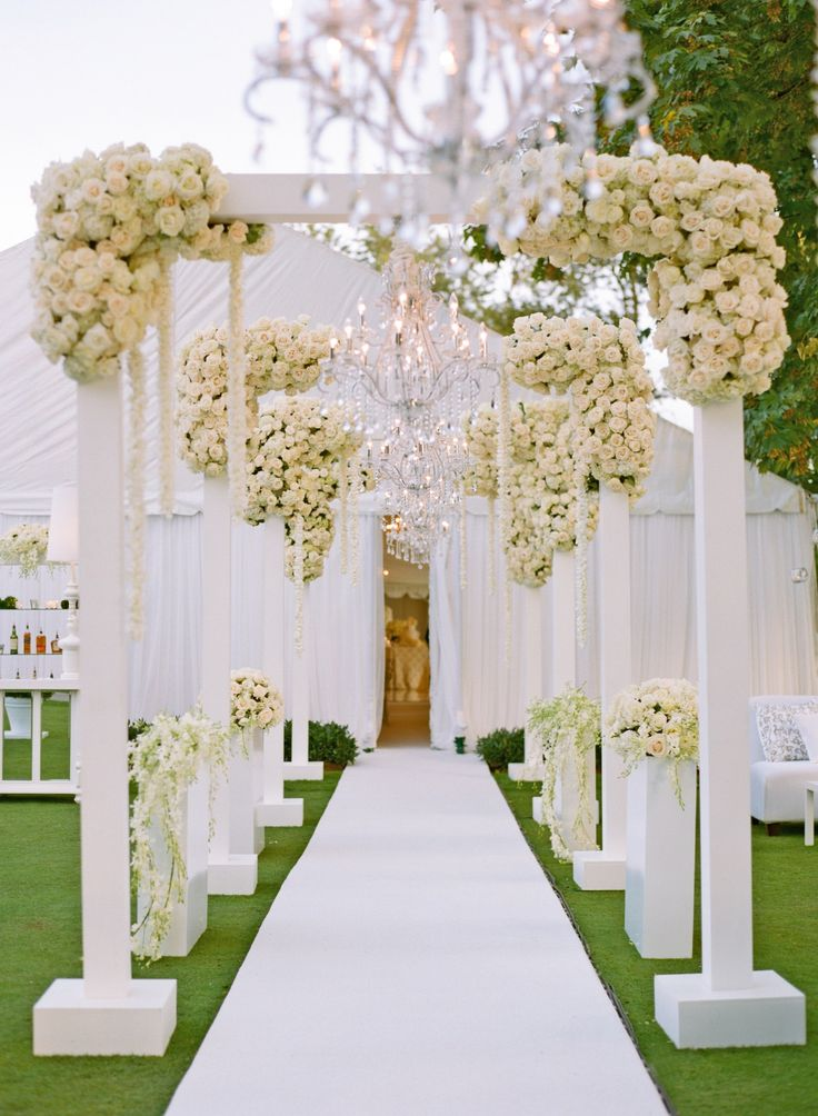 Dramatic Wedding Entryways Coordinated To Perfection