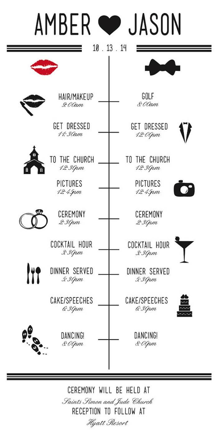 How to plan a wedding reception timeline junglespirit Images