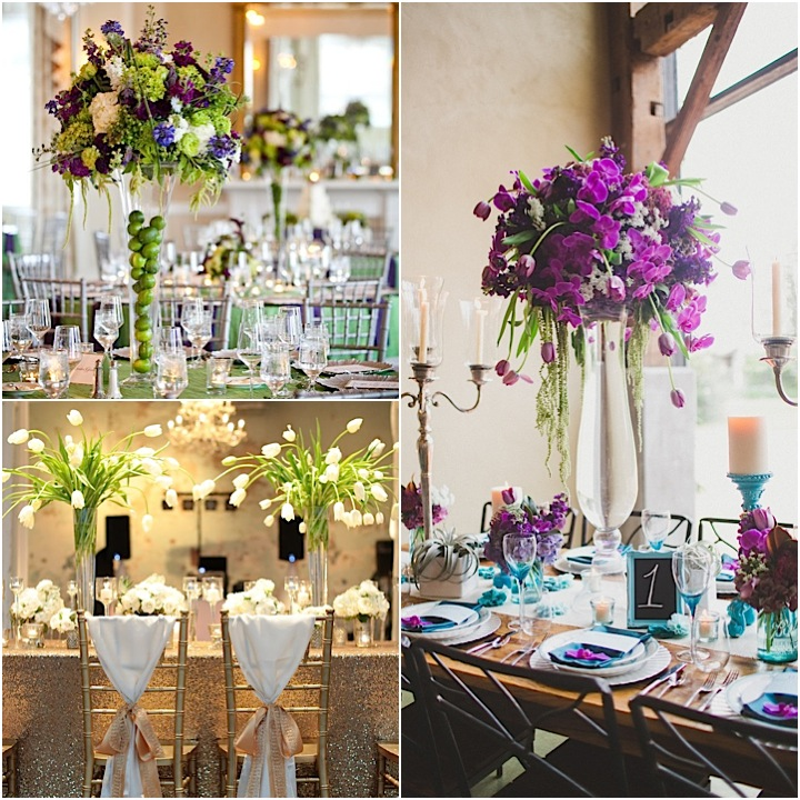 Wedding Ideas For Stunning Tall Centerpieces