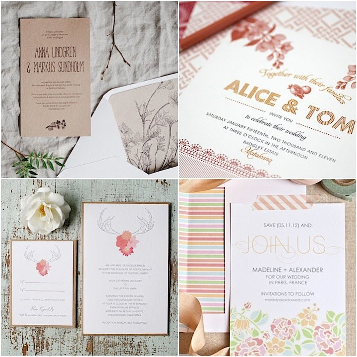 wedding invitation templates you will love  modwedding, Wedding invitations
