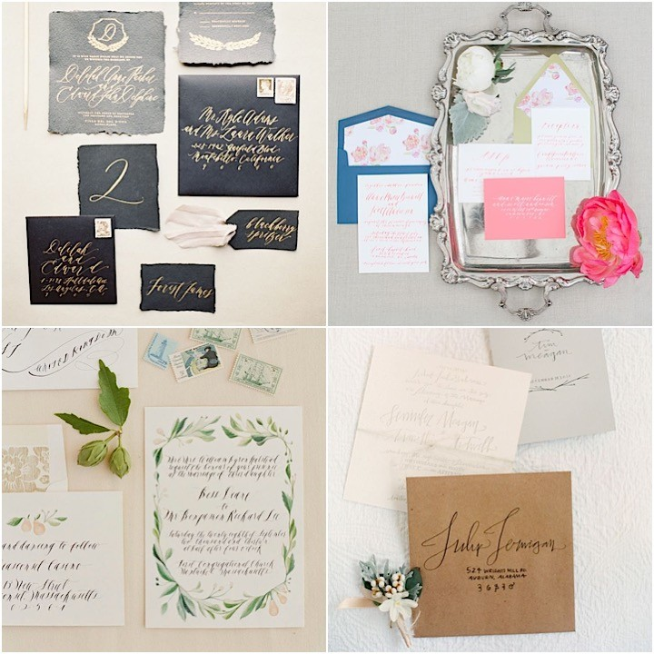 Wedding Invitations With Elegant Calligraphy