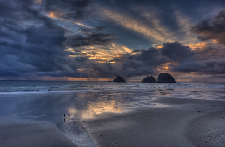 Sunset in Oceanside, Oregon
