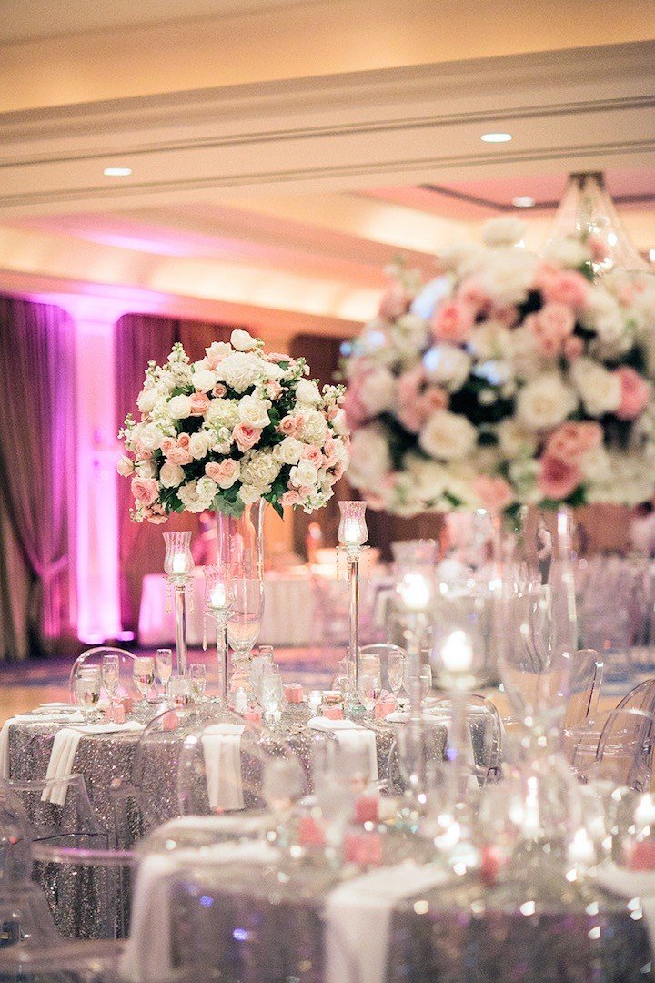 silver wedding decorations houston wedding silver and pink modwedding 7455