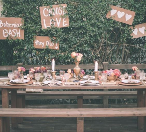Insurance For Wedding Reception: Rustic Gold Wedding Reception