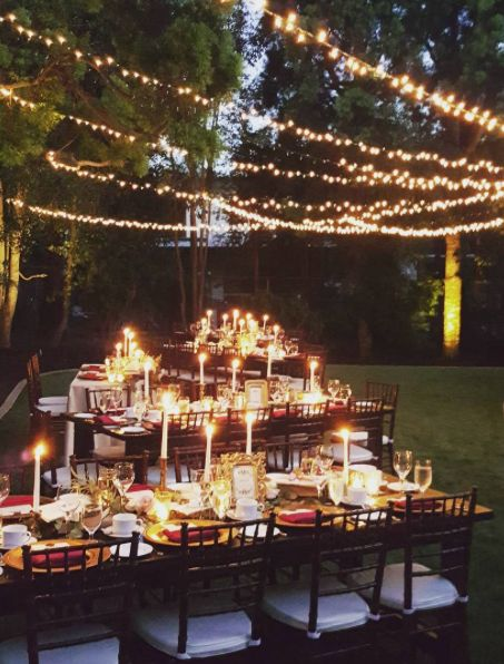 Maroon And Gold Outdoor Wedding Reception Decor Modwedding