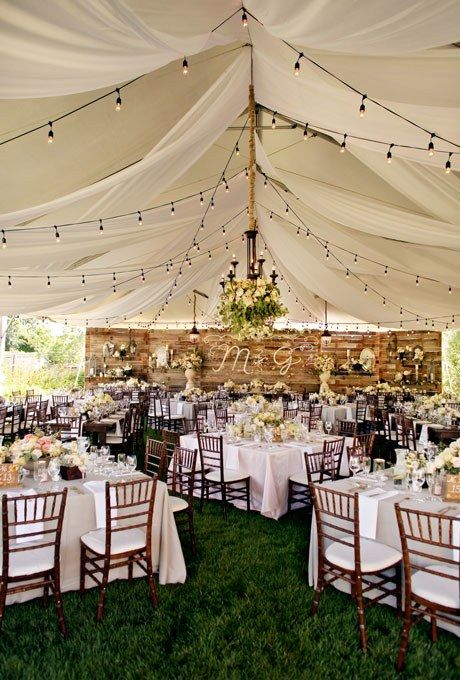 How much do tent and heater rentals cost for your wedding modwedding - Decorating a canopy tent ...