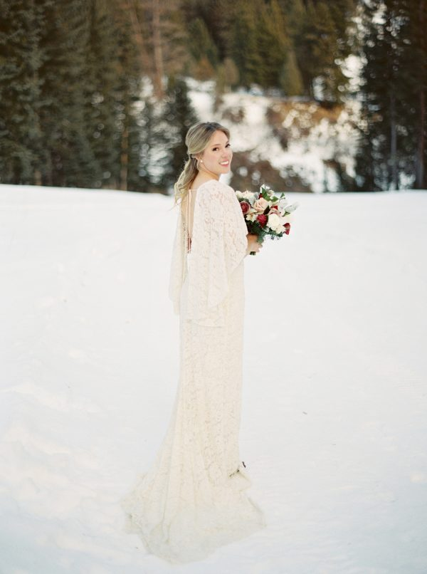 Romantically Chic Winter Wedding Inspiration In Jackson